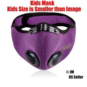 Unisex Kids Outdoor Face Mask with Filter